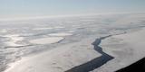 link to gallery item Video of sea ice leads from Helheim Kangerdlugssuaq region
