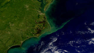 Link to Recent Story entitled: Carolina Coast from SeaWiFS: September 23, 1999