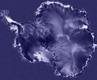 Antarctica mapped with RADARSAT data