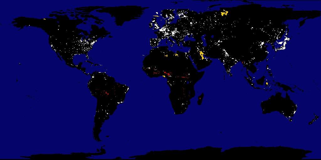 hologlobe earth at night
