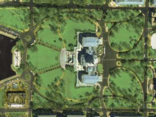 Top-Down view of the Capitol in Washington, D.C.