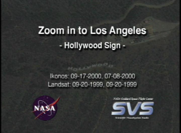Svs Great Zoom Into Los Angeles Ca The Hollywood Sign