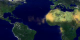 An animation showing dust being blown westward over the Atlantic from northern Africa in July 2000, from aerosol measurements taken by Earth Probe TOMS