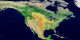 This animation of North and Central America shows each of the 17 MODIS landcover classes individually and then the series repeats with the classes appearing together.