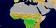This animation of Africa shows each of the 17 MODIS landcover classes individually and then the series repeats with the classes appearing together.