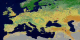 This animation of Europe shows each of the 17 MODIS landcover classes individually and then the series repeats with the classes appearing together.