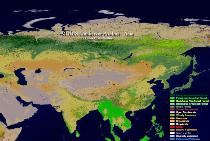 SVS: MODIS Land Cover of Asia