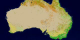 This animation of Australia shows each of the 17 MODIS landcover classes individually and then the series repeats additively.