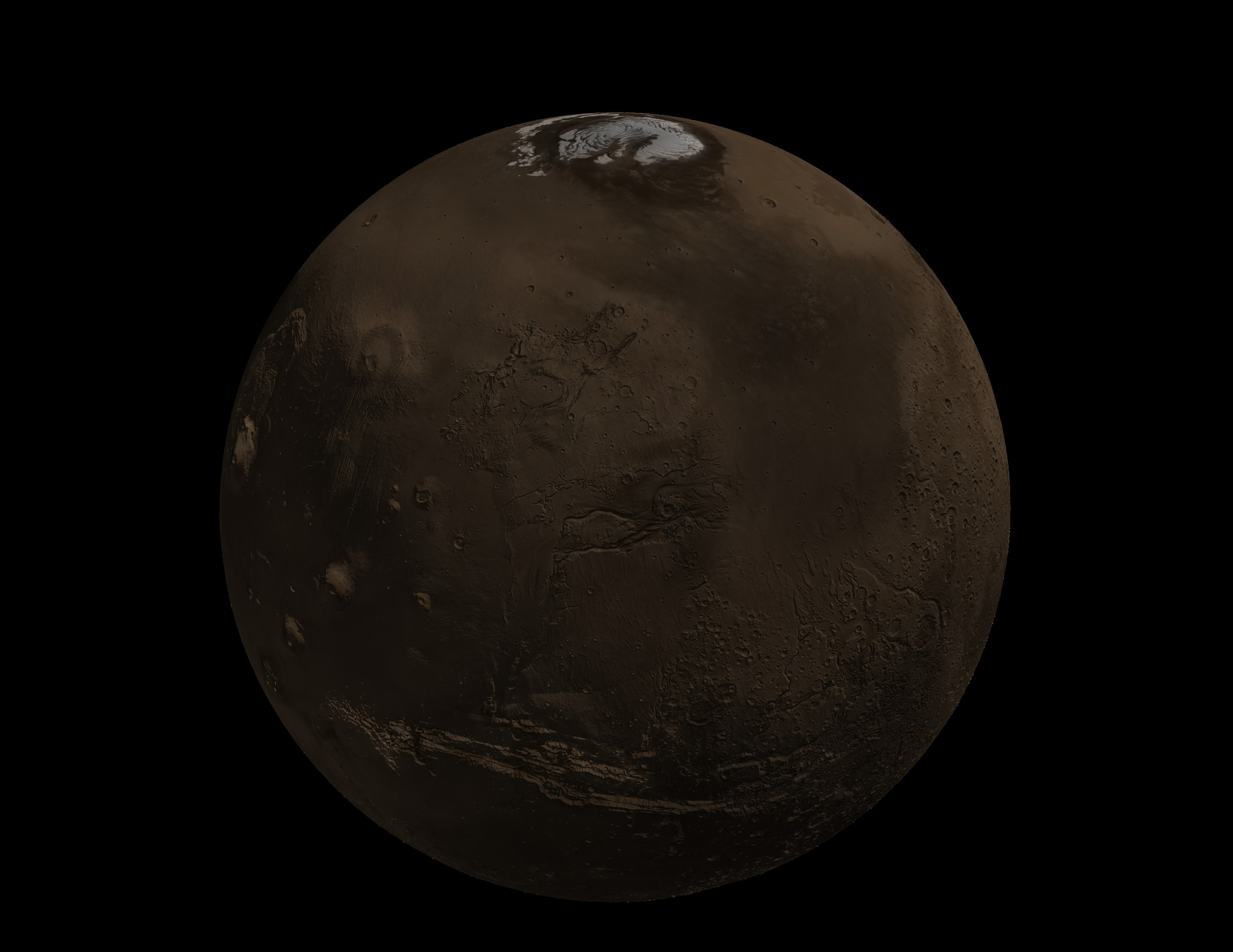 SVS: MOLA: Seasonal Snow Variations on Mars, Zoom to ...