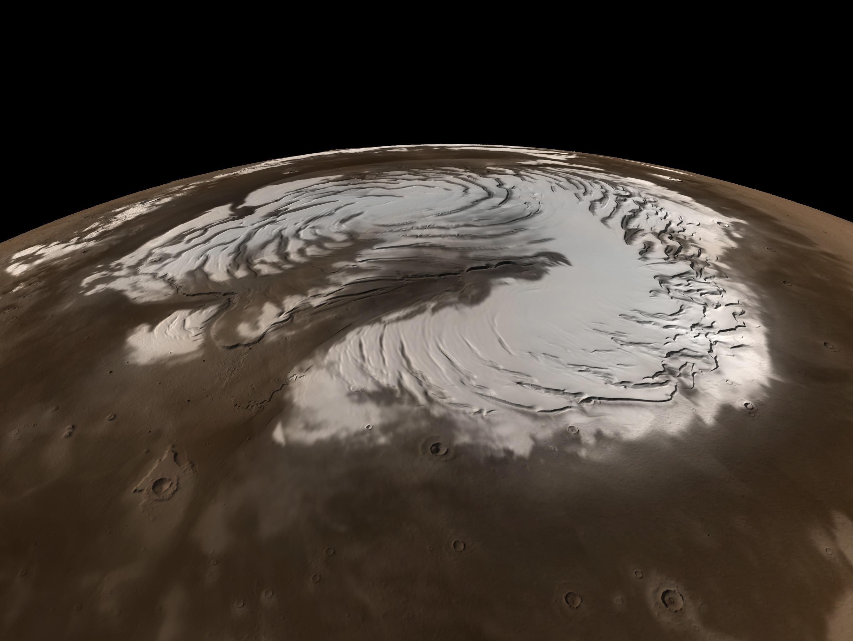 SVS: MOLA: Seasonal Snow Variations on Mars: Polar Images