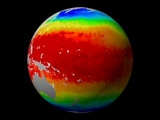 A striking picture of the world's sea surface temperatures