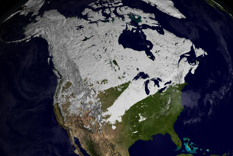 svs modis snow cover over north america