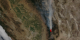View of smoke plume with fire pixels.