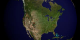 This animation shows fires detected over North America from 8-21-2001 through 8-20-2002.