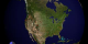 This animation shows fires detected over North America from 8-21-2001 through 8-20-2002 with a clock inset.