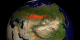 This animation shows fires detected over Asia from 8-21-2001 through 8-20-2002.