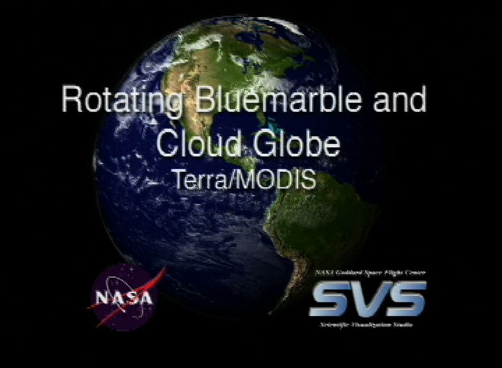 svs rotating blue marble globe with clouds