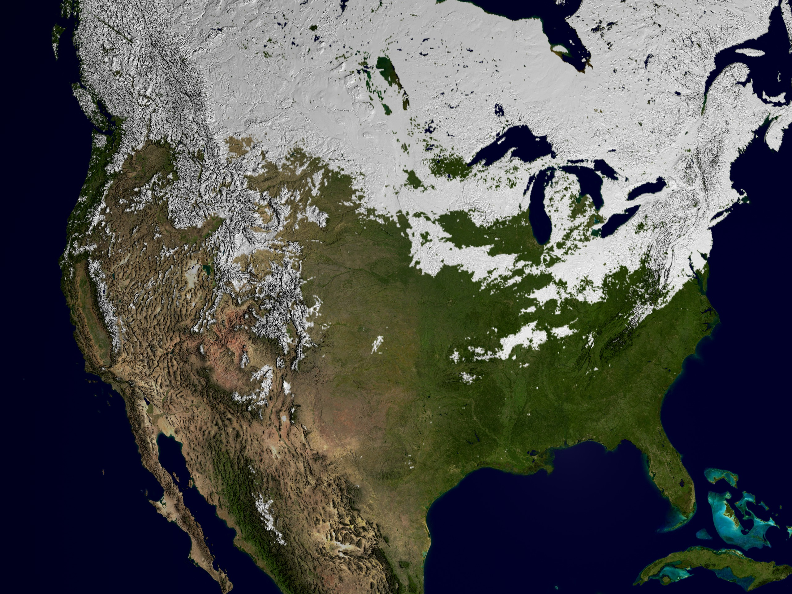 SVS Snow Cover Over The USA During The Winter Of - Snow cover map usa
