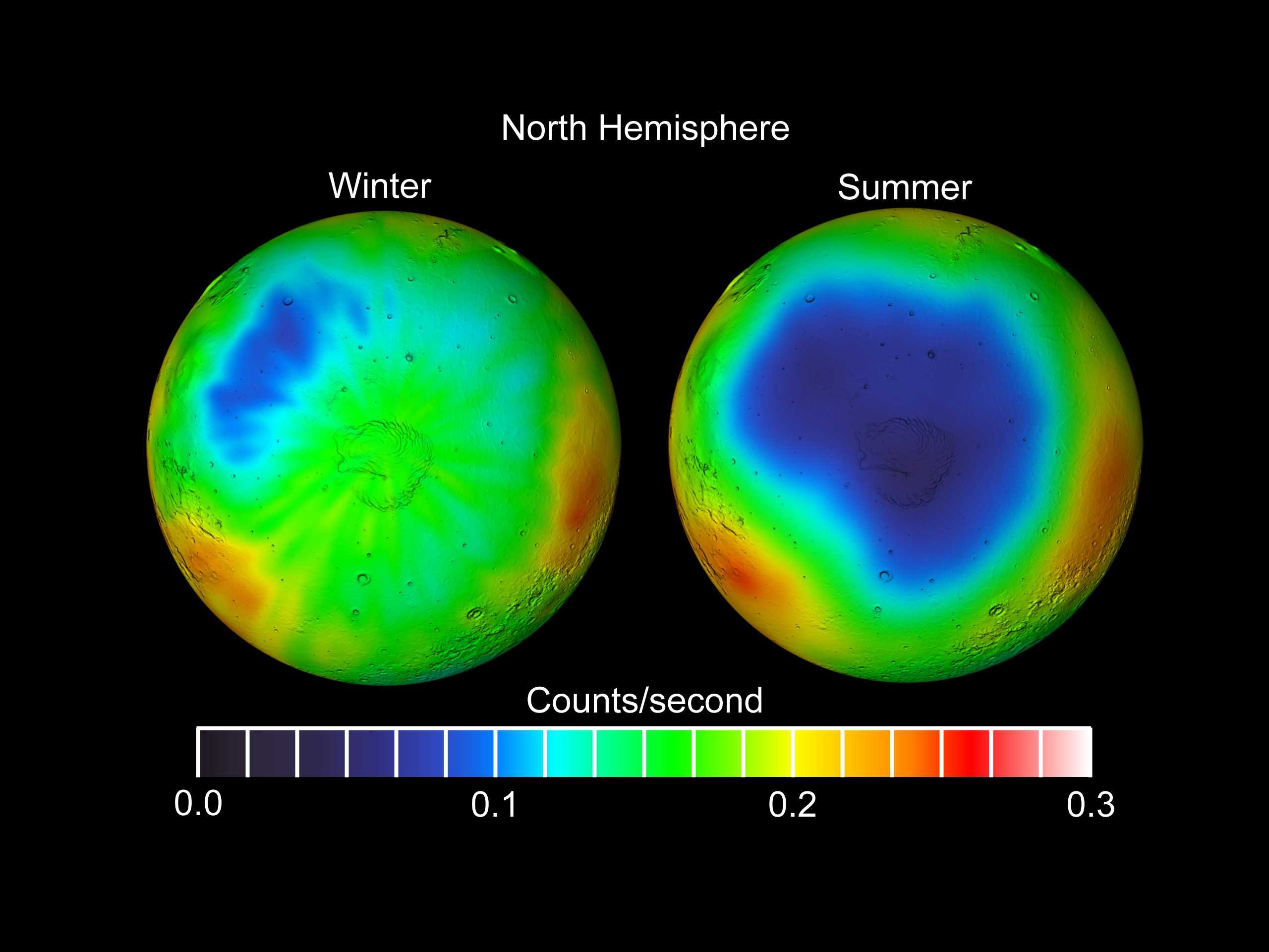 Svs Mars Odyssey Water Ice Winter Observations