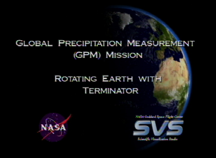 SVS: GPM Earth Spin Animation