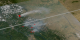 Close-Up view with smoke plumes and fire pixels.