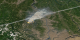 Washington fires from 19 July 2003 with yellow fire pixels