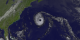 Hurricane Erin on 9-10-01 as seen through VIRS-IR and GOES-IR.  MODIS-bluemarble is in the background.