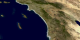 This animation shows the MODIS imagery of the California fires from October 23, 2003 to October 29, 2003.  Then it zooms out and reruns the sequence with the TOMS aerosol data overlaid on top of the MODIS imagery.