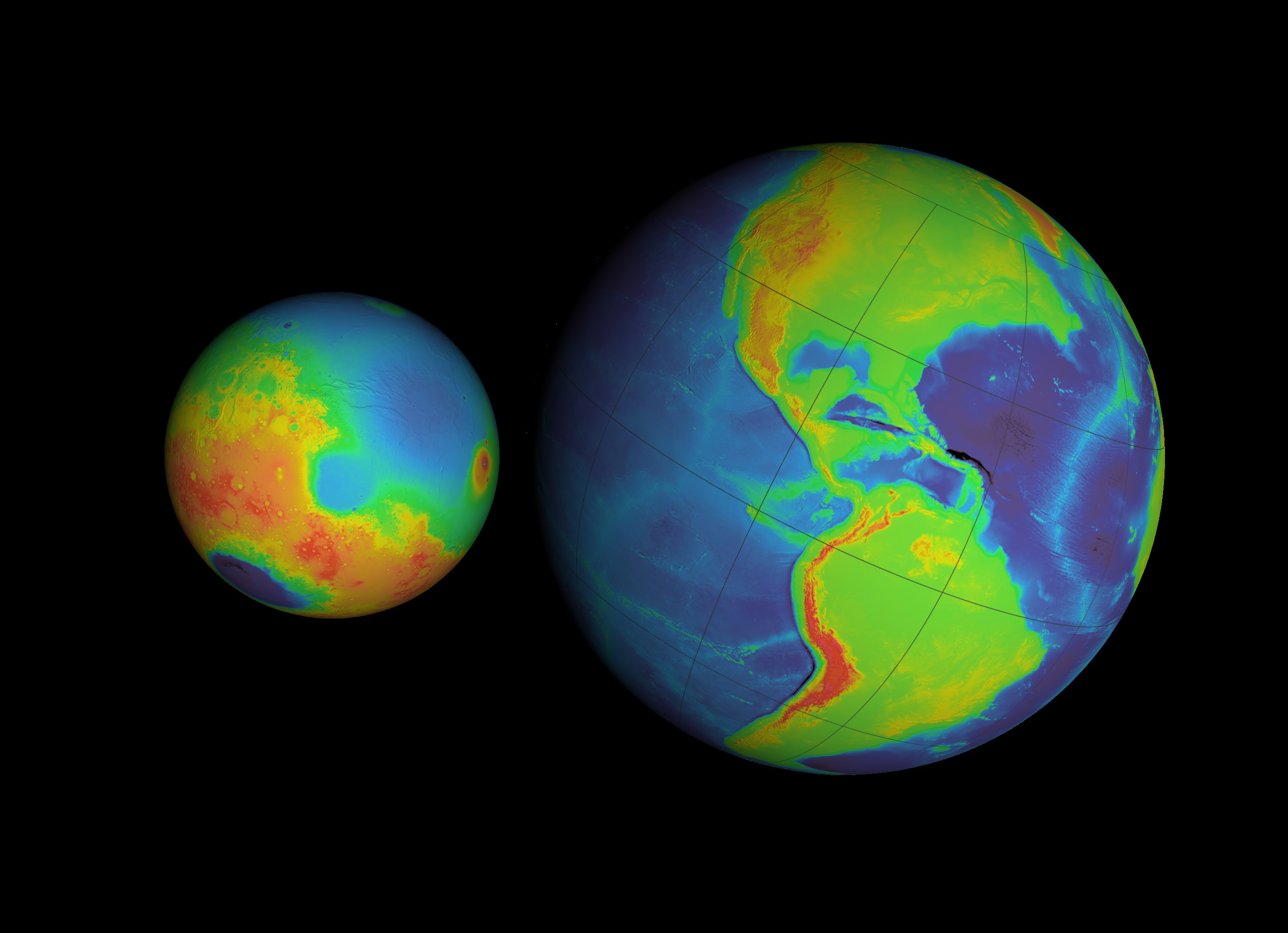 a comparison of mars and earth Mars (left), earth (middle), venus (right) with relative sizes credit: nasa using two esa spacecraft, planetary scientists are watching the atmospheres of mars and venus being stripped away into space.