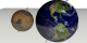 Comparing Mars to Earth in true color (with axes and orbit plane)