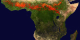 This animation shows fire activity in Africa during 2002.  This  product is available through our Web Map Service .