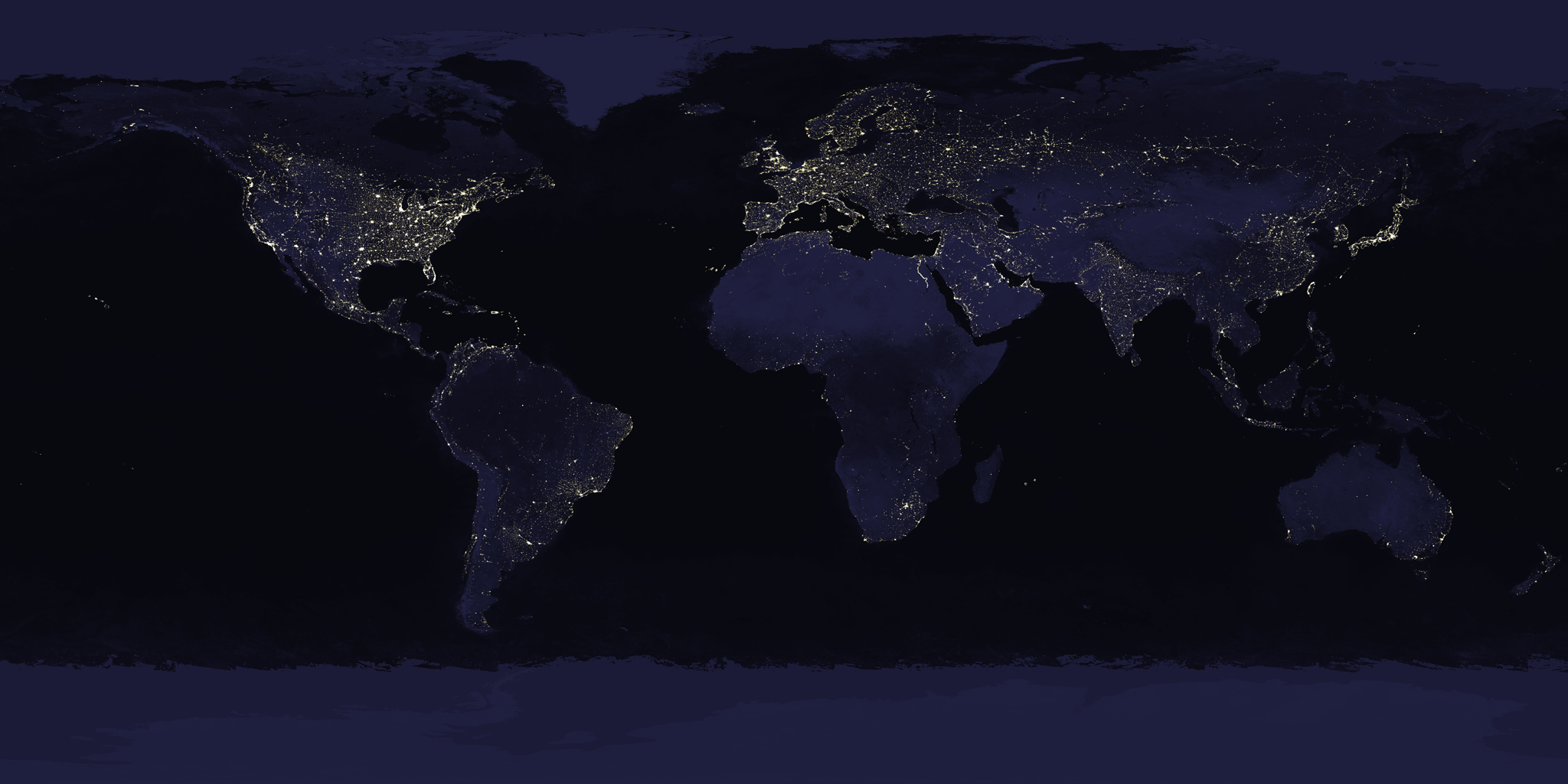 SVS Earth At Night WMS - Us map night