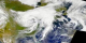 Tropical Storm Allison, as captured by the SeaWiFS instrument.  The images in this animation are each composites of one days worth of data.  This  product is available through our Web Map Service .