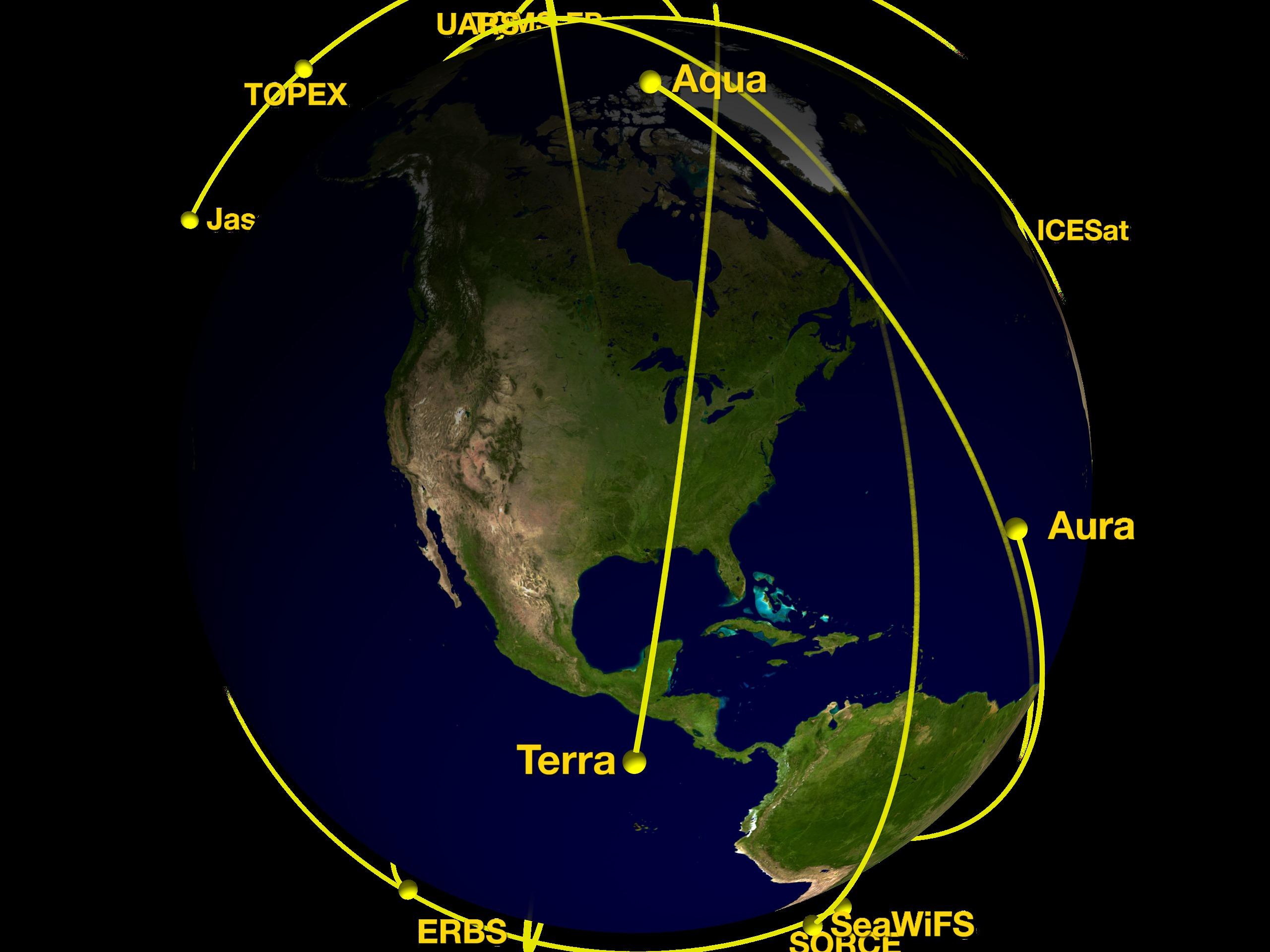 svs nasa s orbiting earth observing fleet includes aura