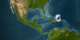 Hurricane Frances relative to North America