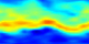 This animation shows nitric acid (HNO3) in the atmosphere from August 13 through October 15, 2004. Red represents high concentrations; blue represents low concentrations. The spatial resolution is low: each pixel covers an area of 5 degrees longitude by 2 degrees latitude, so the entire world (except for 1 degree at each pole) is covered by the 72x89 pixel images.  This  product is available through our Web Map Service .