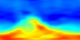 This animation shows water vapor (H2O) in the atmosphere from August 13 through October 15, 2004. Red represents high concentrations; blue represents low concentrations. The spatial resolution is low: each pixel covers an area of 5 degrees longitude by 2 degrees latitude, so the entire world (except for 1 degree at each pole) is covered by the 72x89 pixel images.  This  product is available through our Web Map Service .