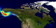 This animation shows aerosol index over Alaska from June 21 through July 10, 2004. Each image pixel corresponds to an area 1 degree in longitude by 1.25 degrees in latitude.  This  product is available through our Web Map Service .
