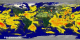 Global surface latent heat flux from the 0.25 degree resolution fvGCM atmospheric model for the period 9/1/2005 through 9/5/2005.  This  product is available through our Web Map Service .