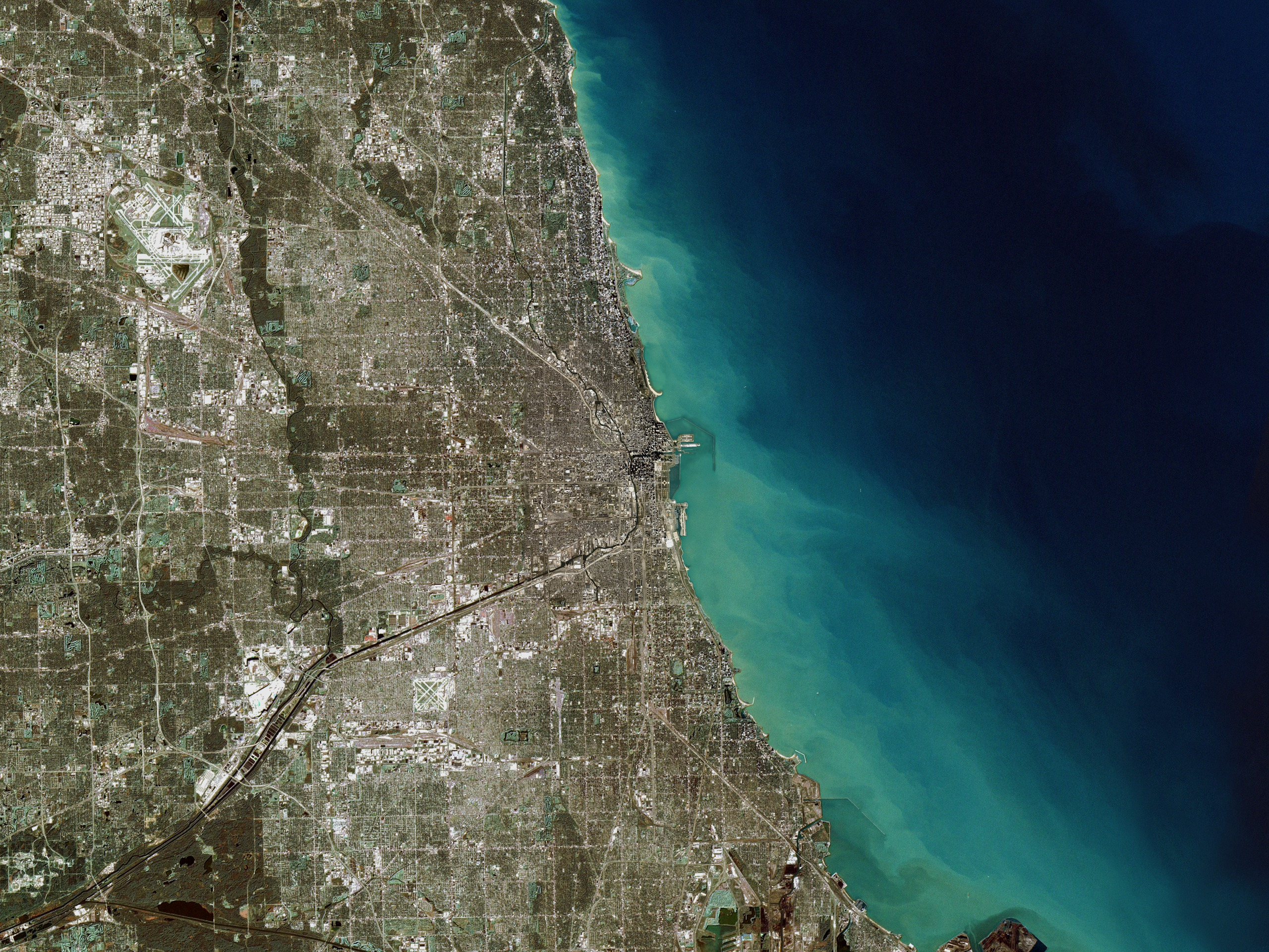 SVS Great Zoom Out Of Chicago IL The Adler Planetarium - Chicago map satellite
