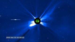 Link to Recent Story entitled: Halloween 2003 Solar Storms: SOHO/EIT and SOHO/LASCO