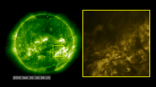 Link to Recent Story entitled: Halloween Storms 2003: SOHO/EIT and TRACE at 195 Angstroms