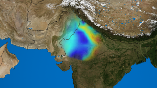 Link to Recent Story entitled: Groundwater Depletion in India Revealed by GRACE