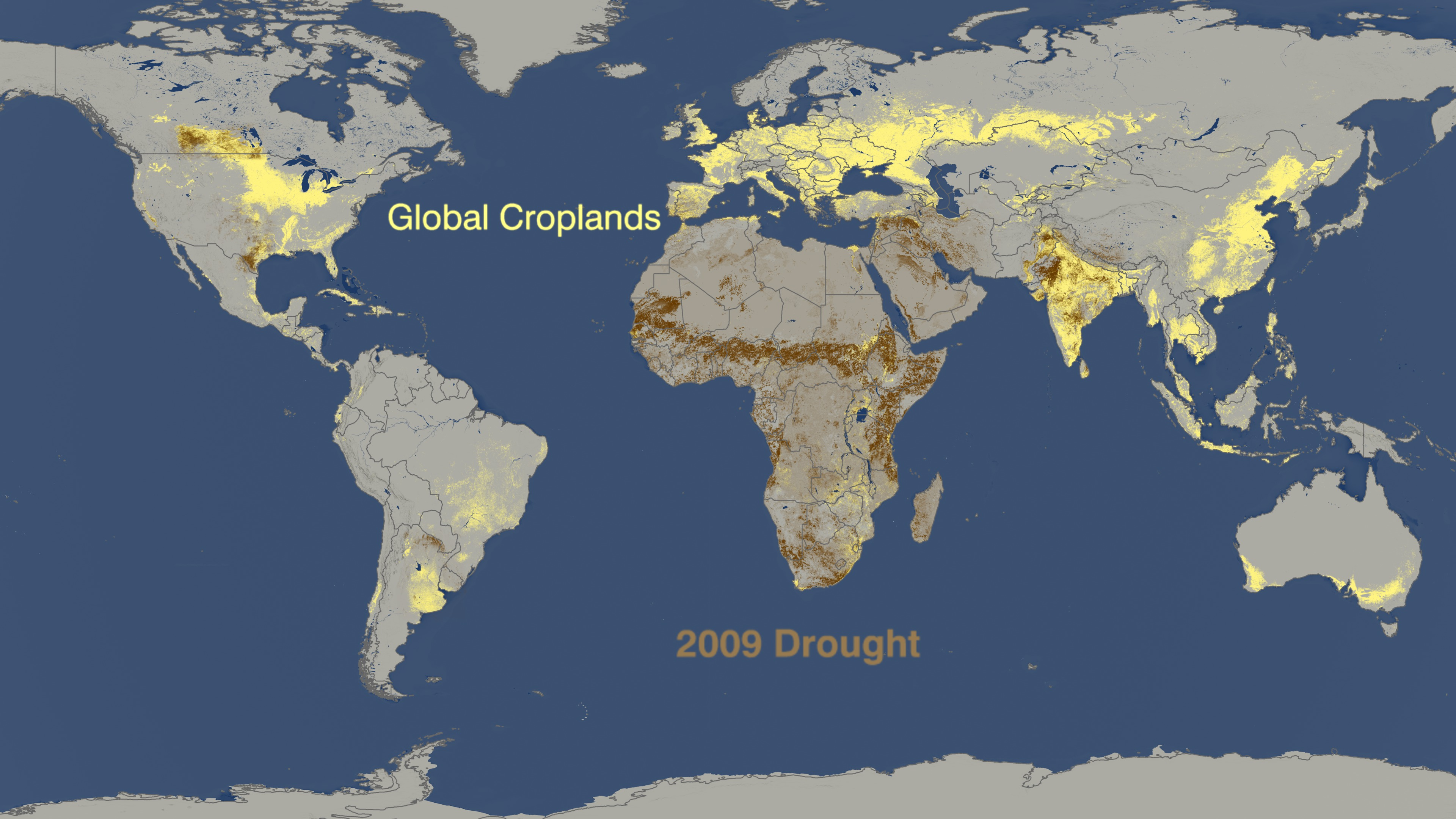 SVS World Droughts From To Versus Where Crops Are Grown - Argentina drought map