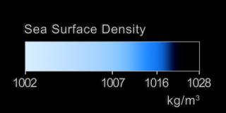legende densité eau