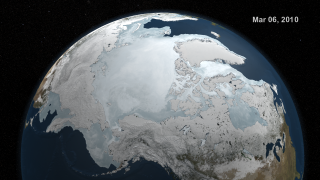 Link to Recent Story entitled: AMSR-E Arctic Sea Ice: September 2009 to March 2010