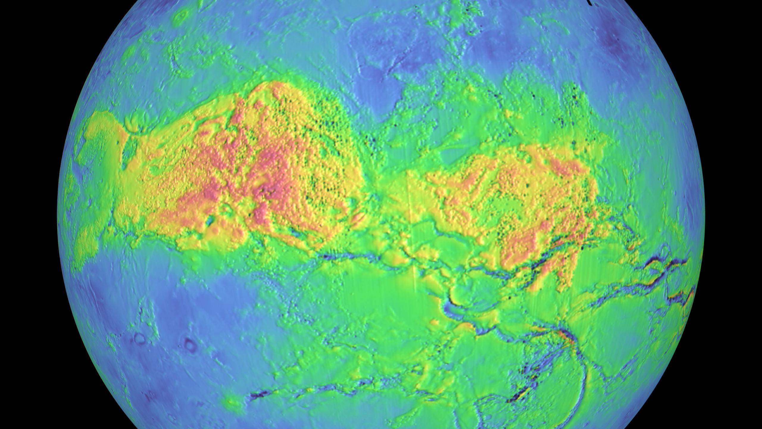 SVS Magellan Venus FalseColor Terrain - Global terrain map