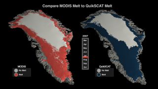 Link to Recent Story entitled: 2007 Greenland Melt Season Study