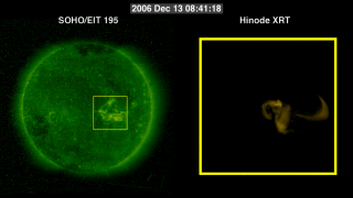 Link to Recent Story entitled: December 2006 Flare from SOHO/EIT and Hinode/XRT
