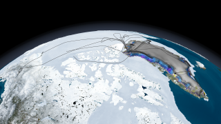 Link to Recent Story entitled: Operation IceBridge 2010 Arctic Flight Paths and Change in Elevation Data over Greenland